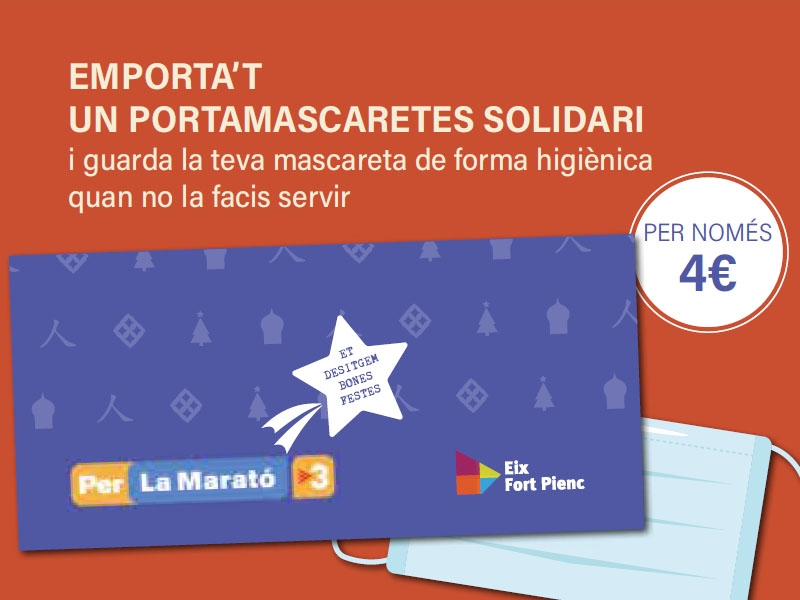 Portamascaretes solidaris a favor de la MARATÓ de TV3